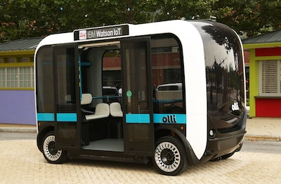 Self-driving, 3D-printed smart bus hits the streets