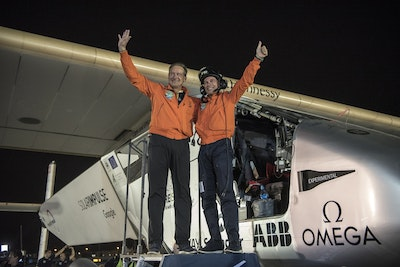 First ever round the world solar flight completed