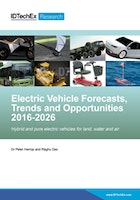 Electric Vehicle Forecasts, Trends and Opportunities 2016-2026