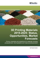 3D Printing Materials 2015-2025: Status, Opportunities, Market Forecasts