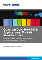 Quantum Dots 2016-2026: Applications, Markets, Manufacturers