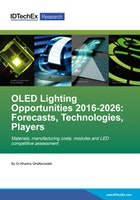 OLED Lighting Opportunities 2016-2026: Forecasts, Technologies, Players