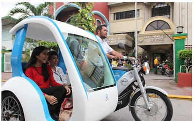 Trial of electric tricycles in the Philippines