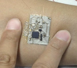 Bluetooth circuit on a skin patch