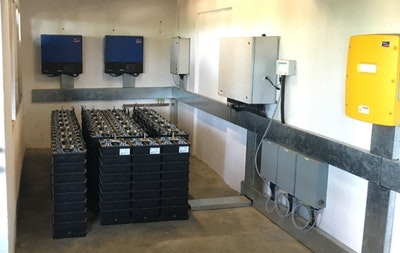 Saltwater battery added to PV deployment