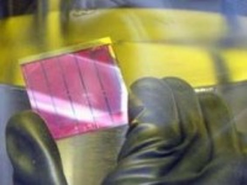 Plastic solar cells for portable electronic devices