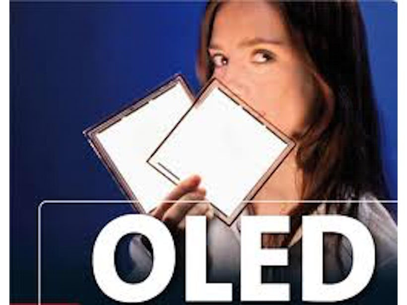 OLED lighting is still in its infancy