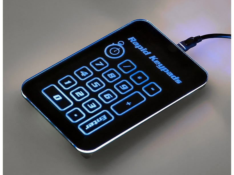 Rapid prototype capacitive touch keypad service