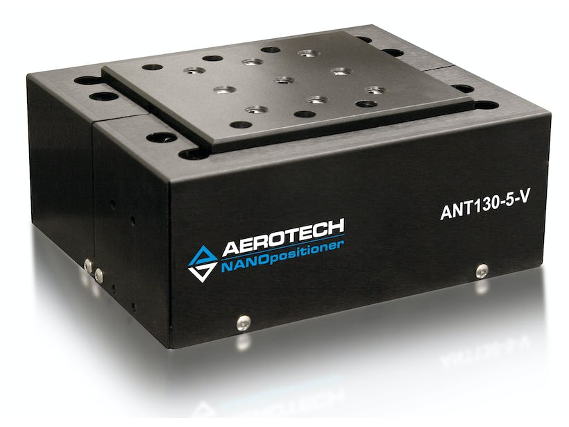 Aerotech's ANT130-5-V linear-motor-driven wedge-style vertical lift