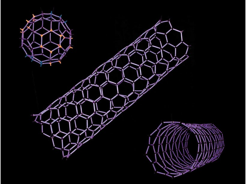 Initial steps toward commercial fabrication of carbon nanotubes