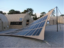 Portable photovoltaic power for the military