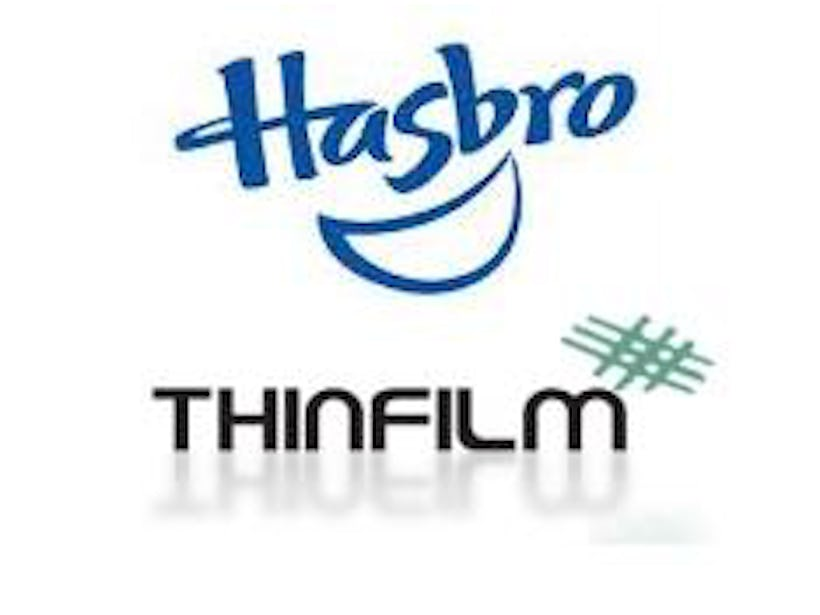 Hasbro and Thinfilm enter into commercial agreement