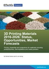 3D Printing Materials 2016-2026: Status, Opportunities, Market Forecasts
