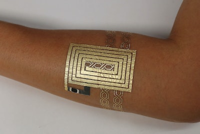 Customized functional devices attached directly on skin