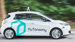 World's first public trial of self-driving car service and app