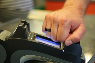 Payment ring powered by contactless security chip