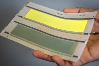 OLED on ceramic, new possibilities for durable, flexible lighting