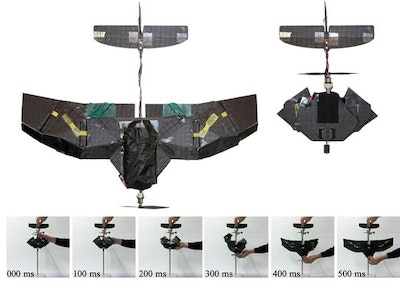 A drone with insect-inspired folding wings