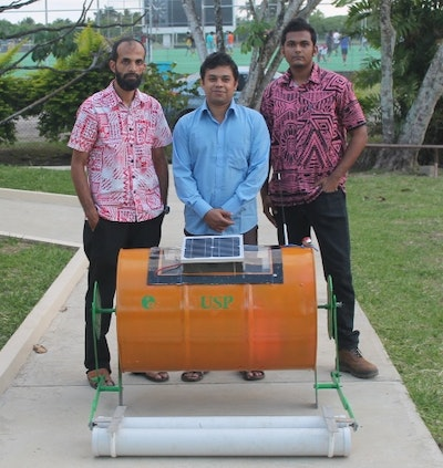Wave solar energy harvesting device