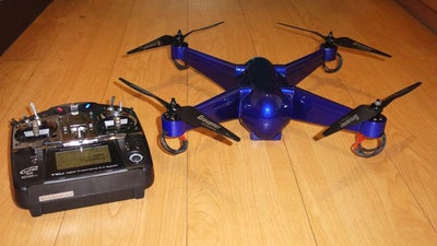 Drone 3D printed with embedded electronics