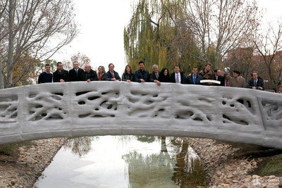 Inauguration of 3D printed bridge