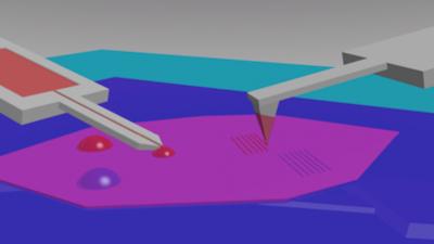 Nano-calligraphy on graphene