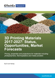3D Printing Materials 2017-2027: Status, Opportunities, Market Forecasts