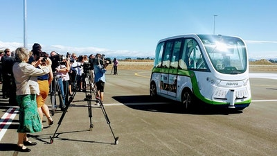 Trial of driverless airport shuttle