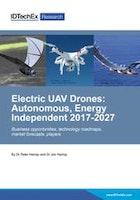 Electric UAV Drones: Autonomous, Energy Independent 2017-2027