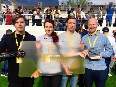 Award for 3D printed bionic hands