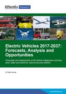 Electric Vehicles 2017-2037: Forecasts, Analysis and Opportunities