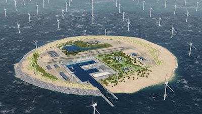 Artificial island to provide renewable energy for Europe