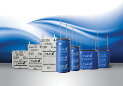 CAP-XX adds compact cylindrical supercapacitors
