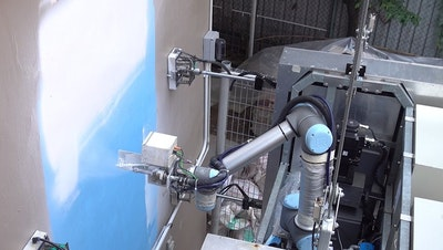 Robot to wash and paint high-rise buildings