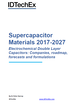 Supercapacitor Materials 2017-2027