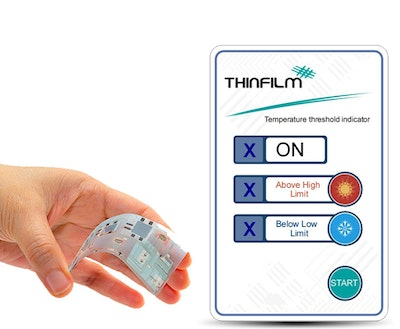 Thinfilm first commercial shipment of temperature sensor smart labels