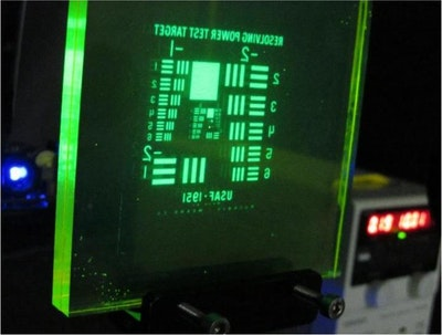 Photoluminescent display absorbs, converts light into energy