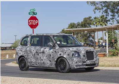 London Taxi Company's range-extended electric black cab in Arizona