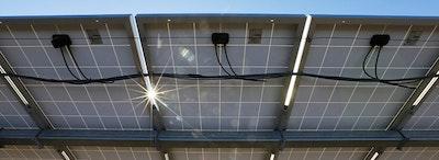 New solar array, historically low price