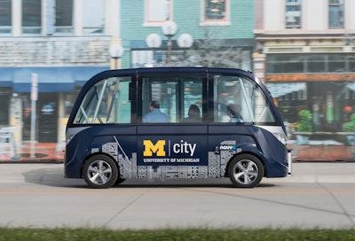 Driverless shuttle service