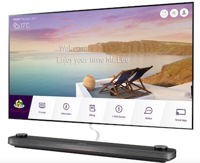 LG unveils world's thinnest hotel TV