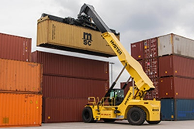 Hyster talks zero emissions and double reefer handling