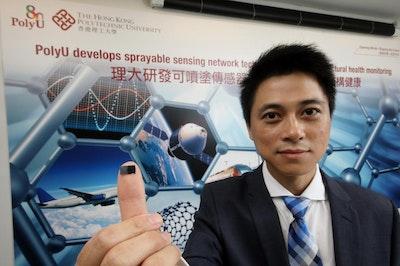 Sprayable sensing network technology
