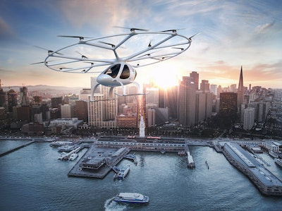 Daimler invests in flying air taxi