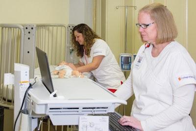 Nursing robots breathe, talk and give birth
