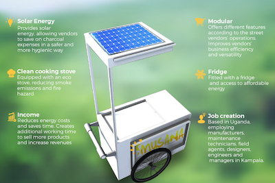 Empowering street vendors with solar-powered carts
