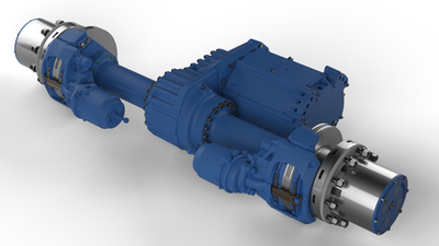 Fully integrated electric axles to market
