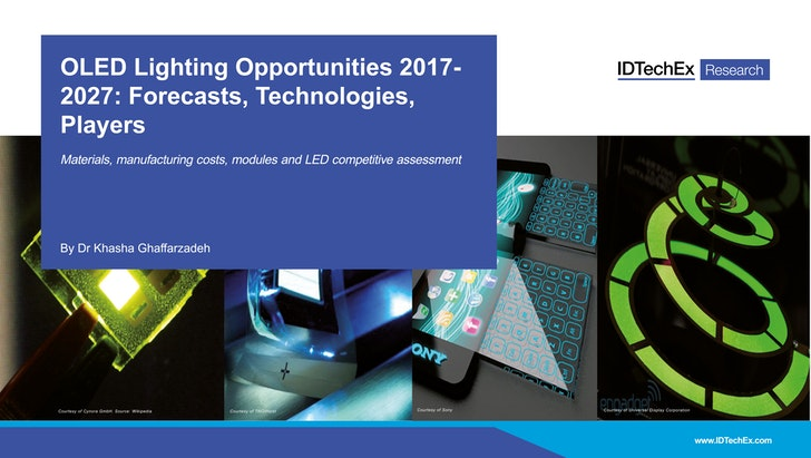 oled lighting opportunities 2017 2027 forecasts technologies