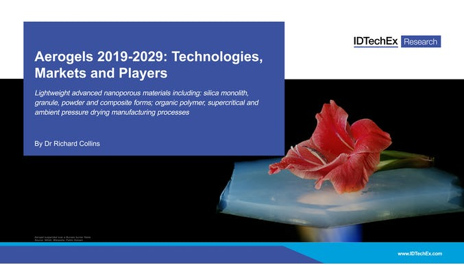 Aerogels 2019-2029: Technologies, Markets and Players