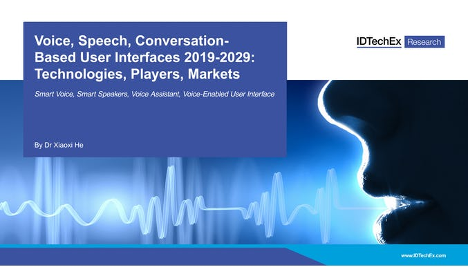 Voice, Speech, Conversation-Based User Interfaces 2019-2029: Technologies, Players, Markets